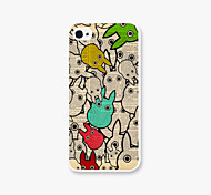 Rabbit Typ World Pattern PC Back Cover Case for Apple iPhone5/5s