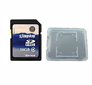 Original Kingston Digital 16GB Class 4 SD Memory Card And The Memory Card Box