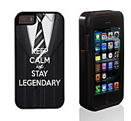 Keep Calm and Stay Legendary Design 2 in 1 Hybrid Armor Full-Body Dual Layer Shock-Protector Slim Case for iPhone 5/5S