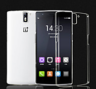 For OnePlus Case Transparent Case Back Cover Case Solid Color Hard PC One Plus