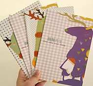 Cute Deer Pattern Notebook(Random Color)