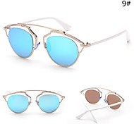 100% UV400 Women's Cat-Eye Alloy Retro Sunglasses