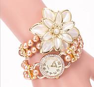 Flowers Pearl Bracelet Watch Fashion Personality