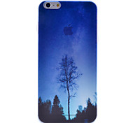 Tree Under the Blue Sky Scenery Pattern Semipermeable Scrub PC Material Phone Case for iPhone 6