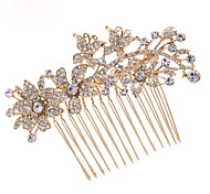 8.6cm Gold Rhinestone Hair Comb Tiara Wedding Bridal Jewelry for Party