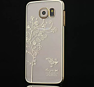 High-grade Plating Diamond Tree Phone Case for Samsung Galaxy S6 edge  (Assorted Colors)
