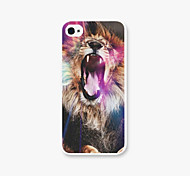 A Roaring Lion Pattern PC Phone Case Back Cover Case for Apple iPhone5/5