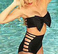 Bowknot Sexy Swimsuit With a Chest Pad and Steel Ring