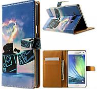легче картины карточки бумажника PU дело с подставкой для Samsung Galaxy a3