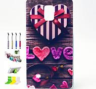 don de amor patrón tpu Mobile Shell con el montaje del soporte del enchufe del polvo lápiz táctil para Samsung Galaxy Note 4