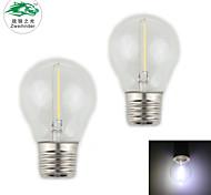 Zweihnder E27 1W 100LM 5500-6000K 1xLED Warm Light Tungsten Filament Lamp (AC 220-240V,2Pcs)