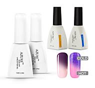 azur 4 pièces / lot tremper hors caméléon uv gel des ongles gel ongles gel de couleur manucure clou (# 22 # 32 + + de base + haut)
