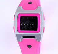 Unisex 3ATM Waterproof Multifunction Rectangle Silicone Digital Watches(Assorted Colors)