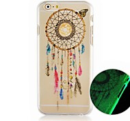 The Butterfly Bells Pattern Luminous Hard Back Cover Case for iPhone6 Plus Case