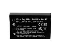 2200mAh Camera Battery Pack for FUJI NP-120/DLI7/DB43/BP1500S