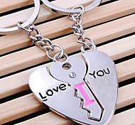 Stainless Steel I Love You Letter Loves Key Chain Ring Keyring