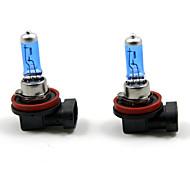 TIROL 2pcs Auto Headlight Bulbs Headlamp Bulbs Halogen H11 12V 100W Super White 5000K
