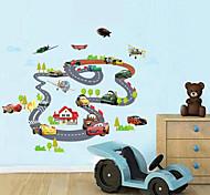 Мультипликация Транспорт Наклейки Простые наклейки Декоративные наклейки на стены материал Влажная чистка Положение регулируется
