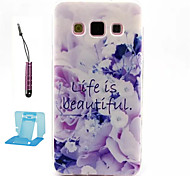 Beautiful Flowers Pattern TPU  Soft Case for Samsung Galaxy A5