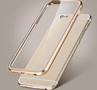 Rock Metal Bumper Acrylic Crystal Transparent Back Case Cover for iPhone 6 Plus