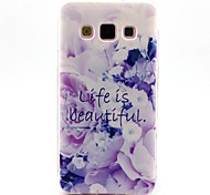 A Better Life Pattern TPU Soft Case for Galaxy A5