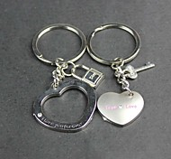 Alloy Lovers Mini Love Lock Key Chain