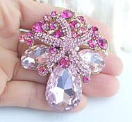 Women Accessories Gold-tone Pink Rhinestone Crystal Starfish Brooch Bouquet Art Deco Women Jewelry Mermaid