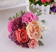 Rose Flowers Wedding Bouquet for Home Decoration