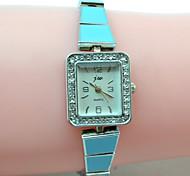 reloj pulsera reloj de las mujeres con la caja cuadrada diamante