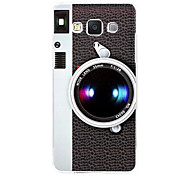 Fashion Camera Pattern Relief Painting Plastic Back Cover Case for Samsung Galaxy A3