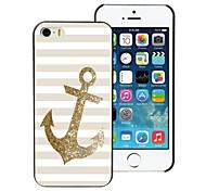 der goldene Anker Design Aluminium-Hülle für das iPhone 4 / 4s