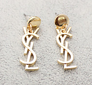 Ladies European Style Fashion Exquisite Letter Earrings