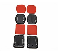 2x Flat Mounts & 2x Curved Mounts with Adhesive Pads for GoPro Hero 3+/3/2/1