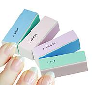 1PCS 4-Way Multi-Color Nail Art Buffing Block Sanding Files