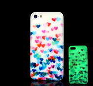 Heart Pattern Glow in the Dark Cover for iPhone 4 / iPhone 4 S Case