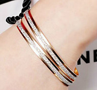 Fashion Double Frosted Set Drill Bracelet(2 Pieces of Set)