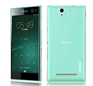 Transparent PC Back Cover Case for Sony Xperia C3