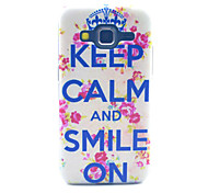 Keep Calm And Smile On Pattern PC Hard Case forSamsung Galaxy Core Prime G360 G360H G3606 G3608 Back Cover
