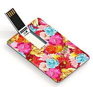 64GB Colorful Flower Design Card USB Flash Drive