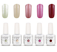 Gelpolish Nail Art Soak Off UV Nail Gel Polish Color Gel Manicure Kit 5 Colors Set S114