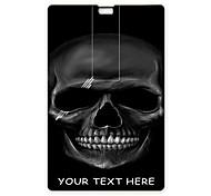 Personalized USB Flash Drive Black Skull Design 4GB Card USB Flash Drive