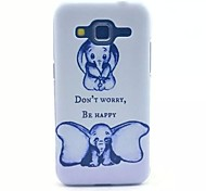 Big Ears Elephant Pattern PC Material Phone Case for Samsung GALAXY CORE Prime G360