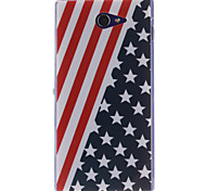The American Flag Design TPU Soft Case for Sony Xperia M2