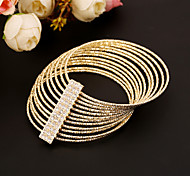 European  Style Multilayer Bangle Bracelet Fine Jewelry for Wedding Party