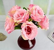 "Romantic 7 Colors Silk France Rose Bouquet 8.66"" (More Colors)"