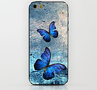 Blue Butterfly Pattern hard Case for iPhone 6