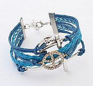 Vintage Anchor Cross Bracelet Leather Bracelets