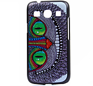 Owl Pattern  Printing Black Frosted PC Material Phone Case for Samsung Galaxy Ace 4 G357FZ