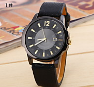 Mens Retro Fashion Belt Round Watch Movement China Ryan(Assorted Colors)