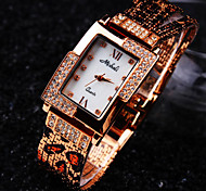 Women's A Grade Czech Diamond Square Dial Mineral Glass Mirror Stainless Steel Band Waterproof Fashion Quartz Watch Cool Watches Unique Watches